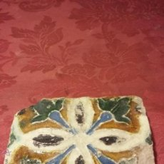 Antigüedades: BONITO AZULEJO TRIANA SIGLO XVI ARISTA. SEVILLA ANTIGUO CERAMICA 3. Lote 51331903