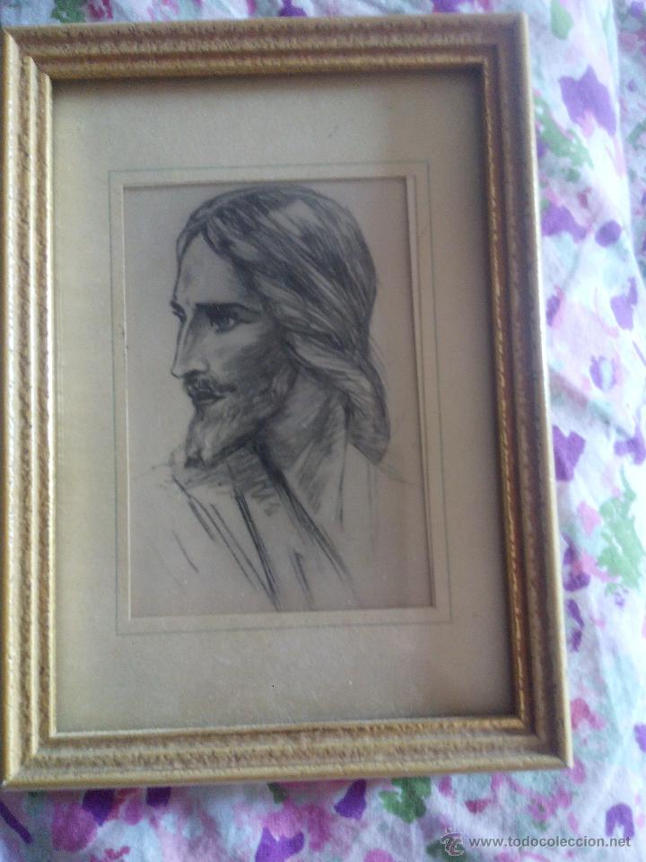bonito cuadro de jesus estilo carboncillo. pos - Comprar Ornamentos ...
