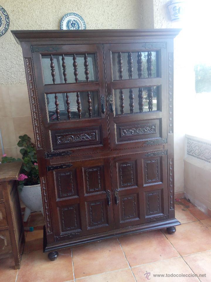 antiguo mueble aparador alto, castellano talla Comprar Aparadores Antiguos en todocoleccion