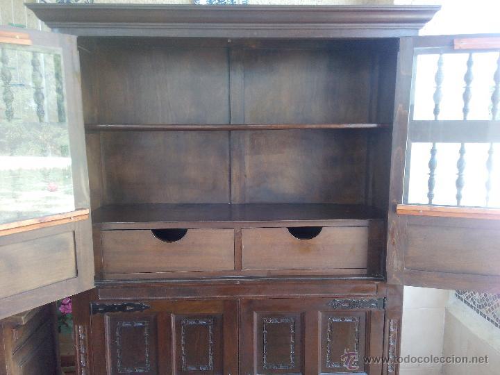 Loja Artesanato Joinville ~ antiguo mueble aparador alto, castellano talla Comprar