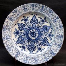 Antigüedades: COMPAÑIA DE INDIAS - DINASTIA CHING - REINADO KANG HSI 1662-1723 - 35 CMS. DIAMETRO. Lote 29508028