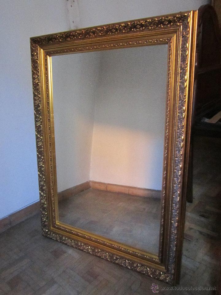 espejo marco dorado antigedades muebles antiguos espejos antiguos