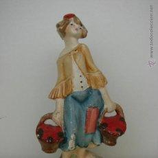Antigüedades: ANTIGUA FIGURA EN ESCAYOLA POLICROMADA. Lote 51799357