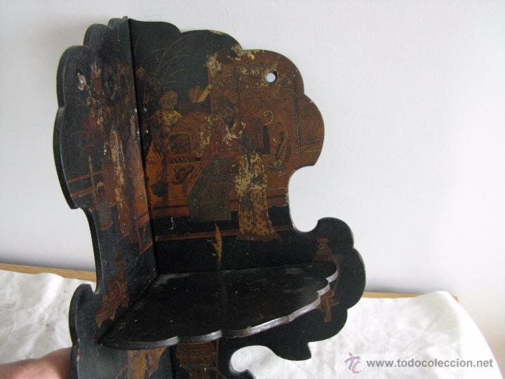 Antigüedades: MAGNIFICA ESTANTERÍA RINCONERA JAPONESA SIGLO XIX - Foto 2 - 51801619