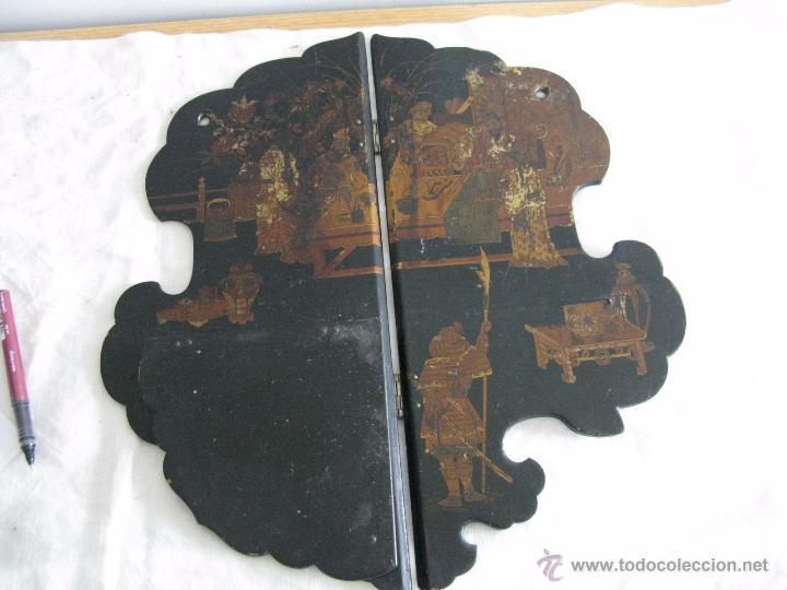 Antigüedades: MAGNIFICA ESTANTERÍA RINCONERA JAPONESA SIGLO XIX - Foto 5 - 51801619