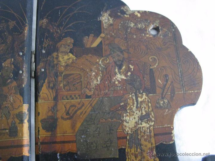 Antigüedades: MAGNIFICA ESTANTERÍA RINCONERA JAPONESA SIGLO XIX - Foto 6 - 51801619