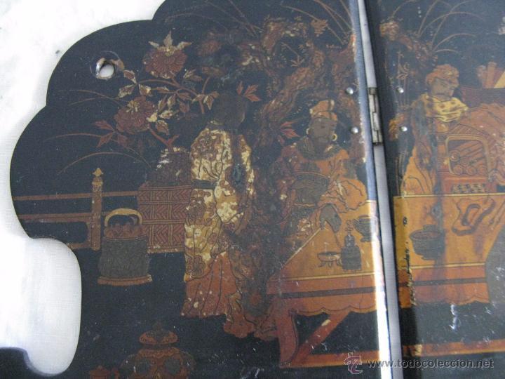 Antigüedades: MAGNIFICA ESTANTERÍA RINCONERA JAPONESA SIGLO XIX - Foto 7 - 51801619