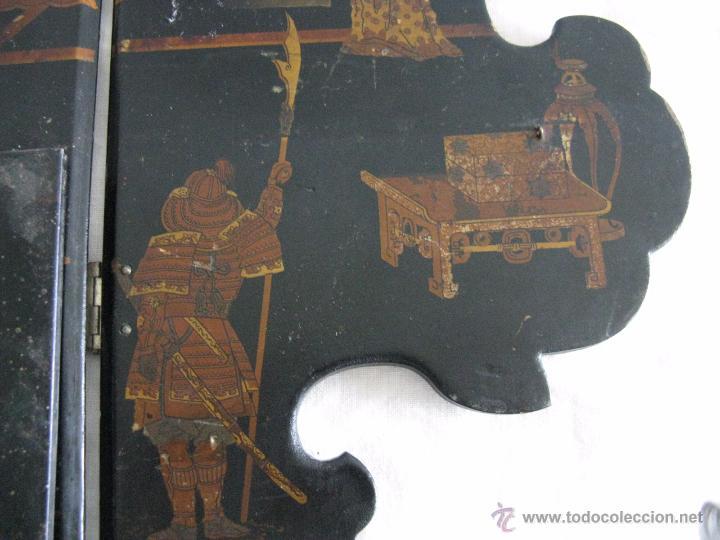 Antigüedades: MAGNIFICA ESTANTERÍA RINCONERA JAPONESA SIGLO XIX - Foto 8 - 51801619