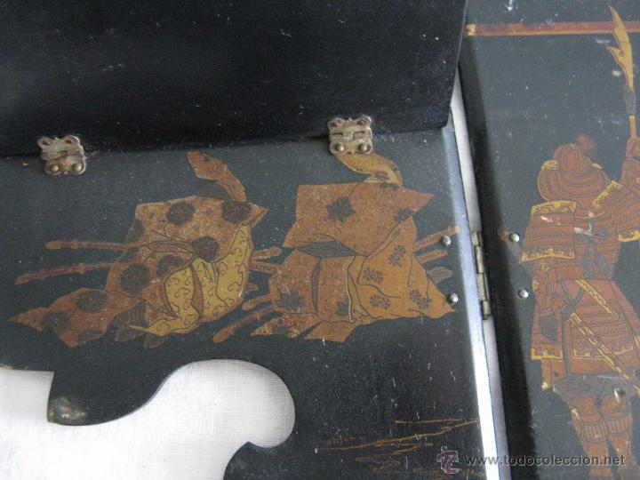 Antigüedades: MAGNIFICA ESTANTERÍA RINCONERA JAPONESA SIGLO XIX - Foto 9 - 51801619