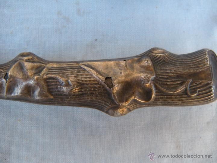 Antigüedades: ANTIGUO CUCHILLO CON EMPUÑADURA DE PLATA 800 - Foto 4 - 51808312
