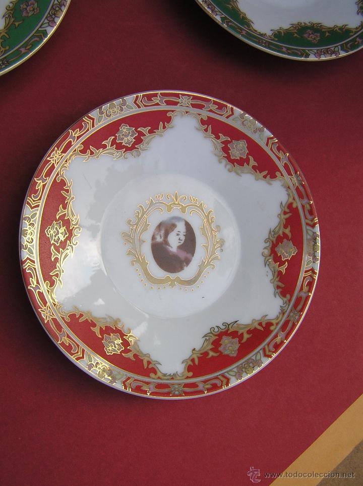 Antigüedades: JUEGO DE CAFÉ .PORCELANA, 5 tazas y 6 platos. Graciosas tazas con patitas. - Foto 8 - 89855987