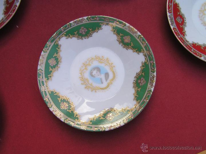 Antigüedades: JUEGO DE CAFÉ .PORCELANA, 5 tazas y 6 platos. Graciosas tazas con patitas. - Foto 9 - 89855987
