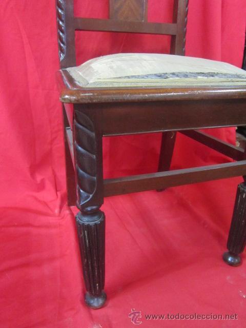 Antigüedades: Silla estilo modernista en madera de caoba. - Foto 2 - 51886382