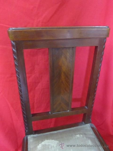 Antigüedades: Silla estilo modernista en madera de caoba. - Foto 3 - 51886382