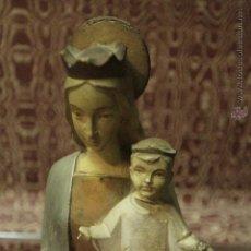 Antigüedades: ANTIGUA FIGURA DE LA VIRGEN 34CM. Lote 51905967