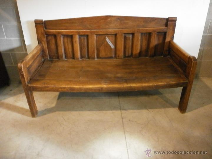 Antiguo banco esca o r stico madera de pino comprar - Bancos de madera rusticos ...