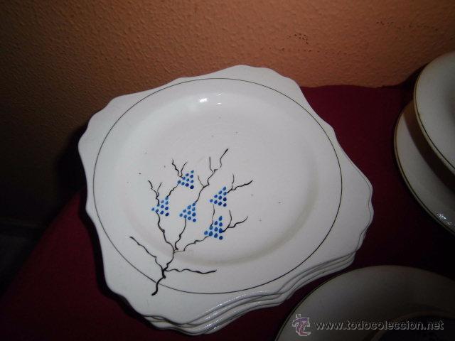 Antigüedades: BONITO JUEGO DE CAFE O TE Y SEIS PLATOS DE POSTRE MARIANO POLA GIJON - Foto 3 - 51937062