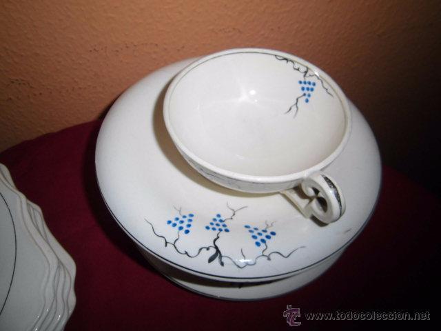 Antigüedades: BONITO JUEGO DE CAFE O TE Y SEIS PLATOS DE POSTRE MARIANO POLA GIJON - Foto 5 - 51937062