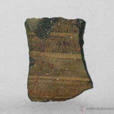 Antigüedades: TROZO DE VASIJA ROMANA O IBÉRICA CON DECORACION. CERÁMICA. FRAGMENTO ROMANO IBERICO. ARQUEOLOGÍA. Lote 51963968