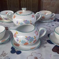 Antigüedades: ANTIGUO JUEGO DE CAFE, SELLADO LA CARTUJA. Lote 51968076