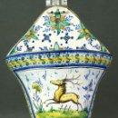 Antigüedades: PEREJILERA CERÁMICA TRIANA CIERVO Y FLORES PP S XX . Lote 51973068
