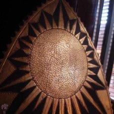 Antigüedades: MANDORLA RESPLANDOR DEL SOL CON PEANA EN TALLA DE MADERA PAN DE ORO PSXX. Lote 171437188