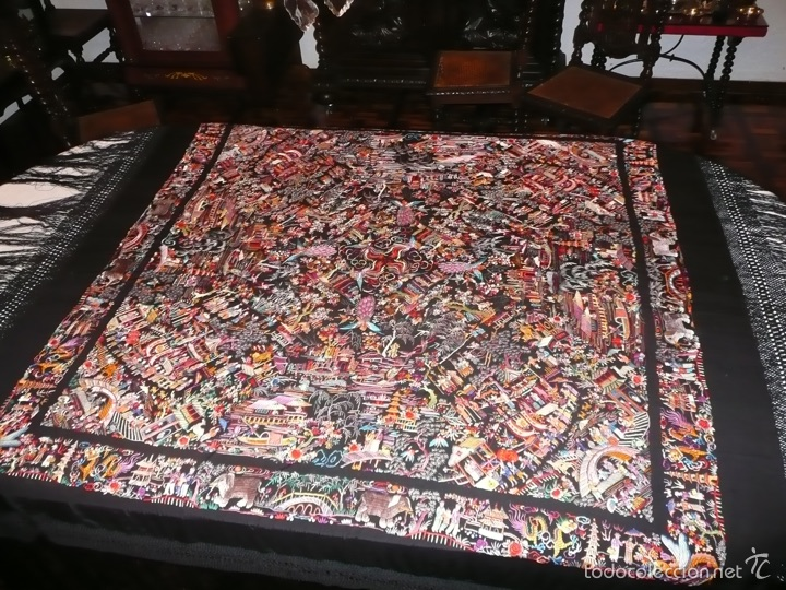 Antigüedades: Manton de Manila - Foto 6 - 51975719