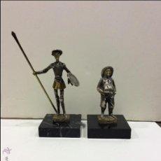 Antigüedades: SUJETA LIBROS DON QUIJOTE Y SANCHO PANZA. Lote 51980998