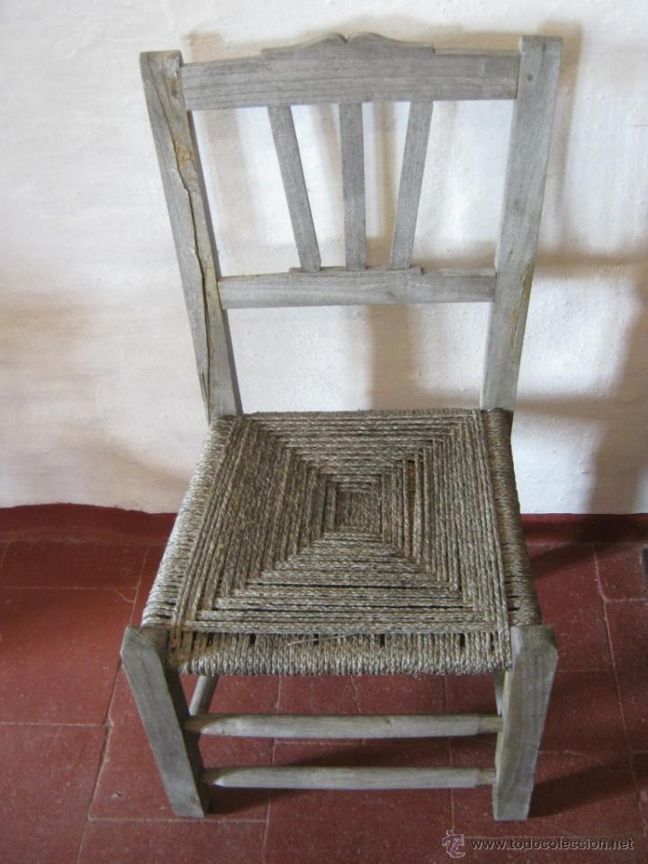 Antigüedades: Pareja de antiguas sillas nordicas rusticas - madera teca y enea - Foto 3 - 51996129