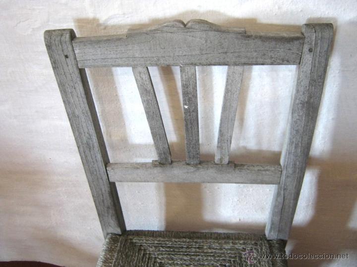 Antigüedades: Pareja de antiguas sillas nordicas rusticas - madera teca y enea - Foto 4 - 51996129