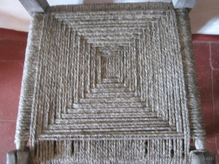 Antigüedades: Pareja de antiguas sillas nordicas rusticas - madera teca y enea - Foto 5 - 51996129