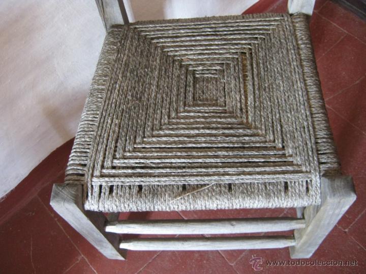 Antigüedades: Pareja de antiguas sillas nordicas rusticas - madera teca y enea - Foto 6 - 51996129