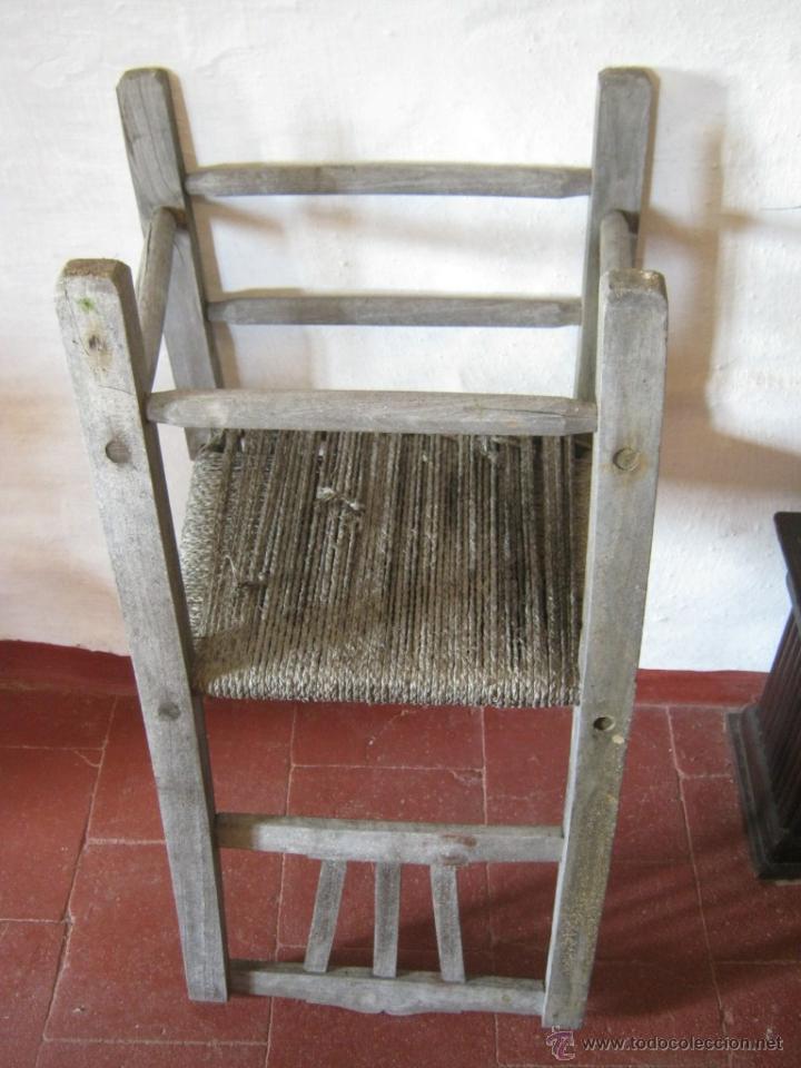 Antigüedades: Pareja de antiguas sillas nordicas rusticas - madera teca y enea - Foto 7 - 51996129