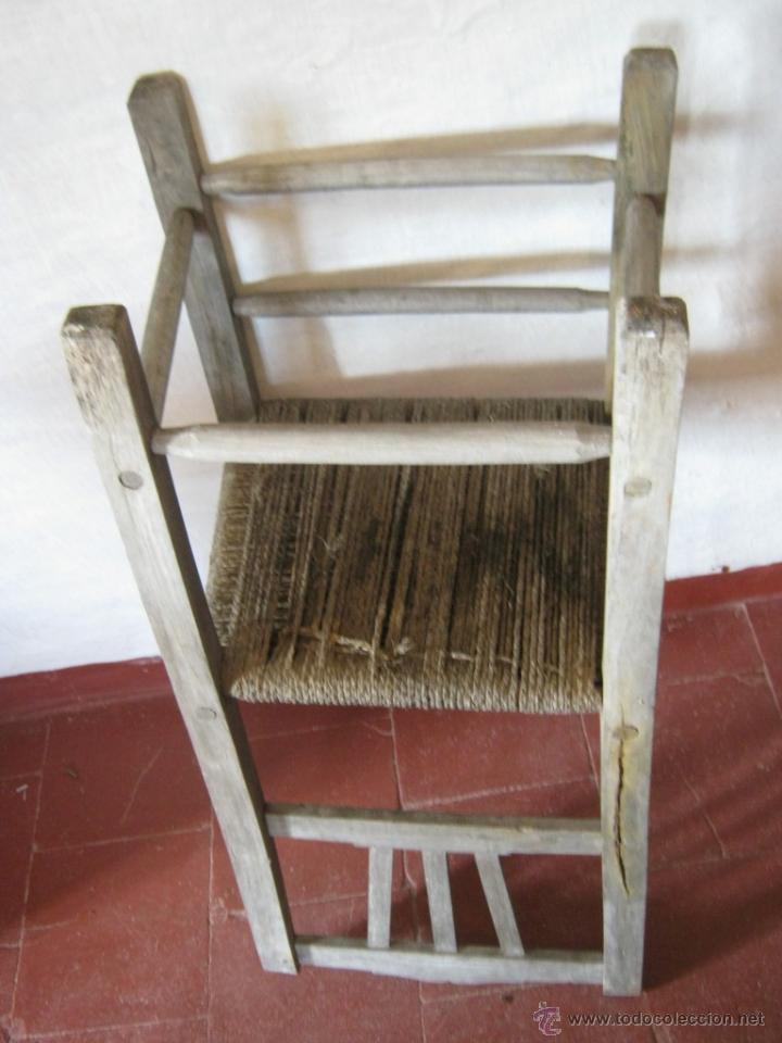 Antigüedades: Pareja de antiguas sillas nordicas rusticas - madera teca y enea - Foto 8 - 51996129
