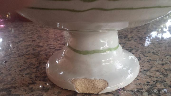 Antigüedades: precioso frutero de ceramica , pintado a mano. lario - Foto 5 - 52007574