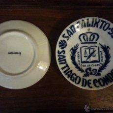 Antigüedades: PRECIOSO PLATO SARGADELOS CERAMICA - SAN CALIXTO 93 SANTIAGO DE COMPOSTELA CLASES PASIVAS . Lote 52018623