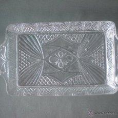 Antigüedades: FUENTE CRISTAL PRENSADO. Lote 52020052