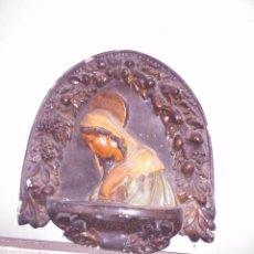 Antigüedades: GRAN PIEZA DECORATIVA ANTIGUA DE LA VIRGEN EN ESCAYOLA. Lote 52020197