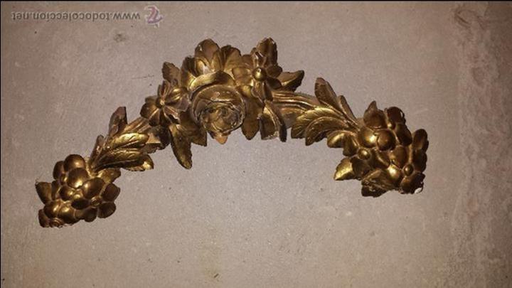 REMATE DE MADERA S . XLX (Antigüedades - Varios)