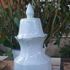 Antiquités: ANTIGUO TIBOR DE PORCELANA, SELLADO SANBO. Lote 52022182