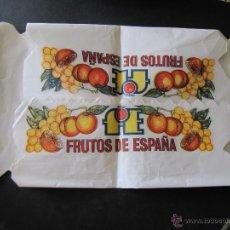 Antigüedades: PAPEL PARA EMBALAR CAJAS. FRUTOS DE ESPAÑA.. Lote 52022677