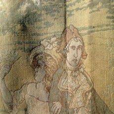 Antigüedades: ANTIGUO TAPIZ DE GRANDES DIMENSIONES - 3,40X 1,46 M - ESCENA CAMPESTRE. Lote 52024054