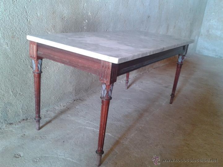 Antigua mesa de m rmol rectangular mesa de cen comprar for Marmol para mesa
