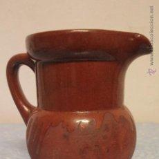 Antigüedades: JARRA DE BARRO, PARCIALMENTE VIDRIADO. Lote 52025131