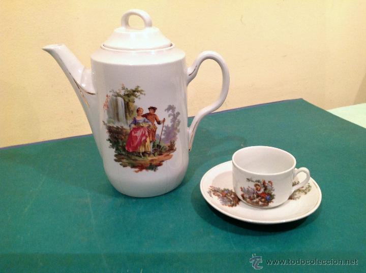 Antigüedades: Antigua Tetera De Porcelana Isabelina Y Taza - Foto 3 - 52027227