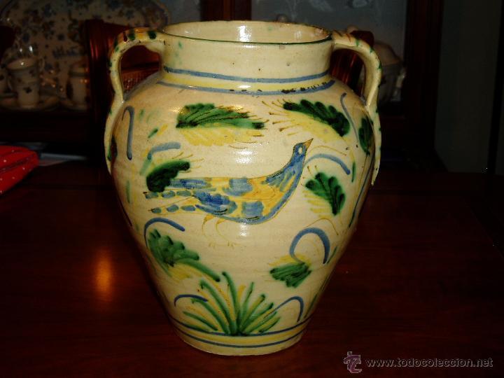 LOZA ESPAÑOLA ORZA DE PUENTE SIGLO XVIII (Antigüedades - Porcelanas y Cerámicas - Puente del Arzobispo )