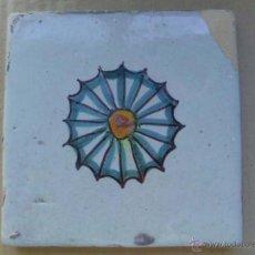 Antigüedades: BALDOSA CATALANA DE CERÁMICA DE 1800 APROXIMADAMENTE. Lote 52120340