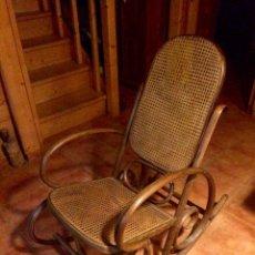 Antigüedades: ANTIGUA MECEDORA / BALANCIN ESTILO THONET RESTAURADO. Lote 52120420