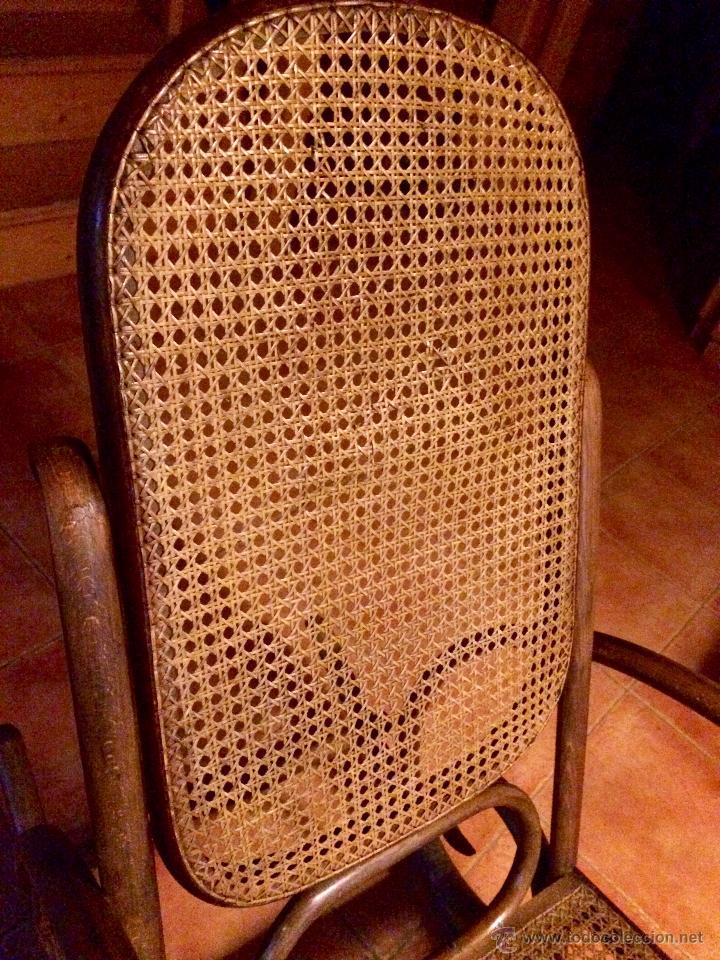 Antigüedades: Antigua Mecedora / Balancin estilo Thonet restaurado - Foto 5 - 52120420