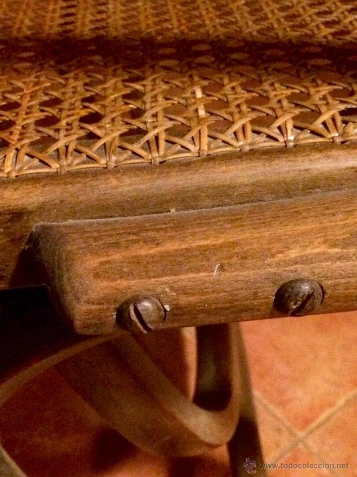 Antigüedades: Antigua Mecedora / Balancin estilo Thonet restaurado - Foto 8 - 52120420